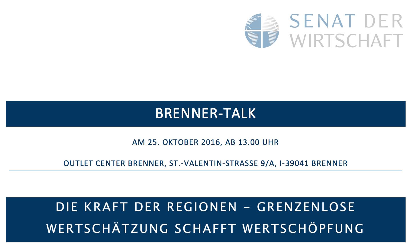 SdW-Brenner-Talk - Einladung 2016-10-25